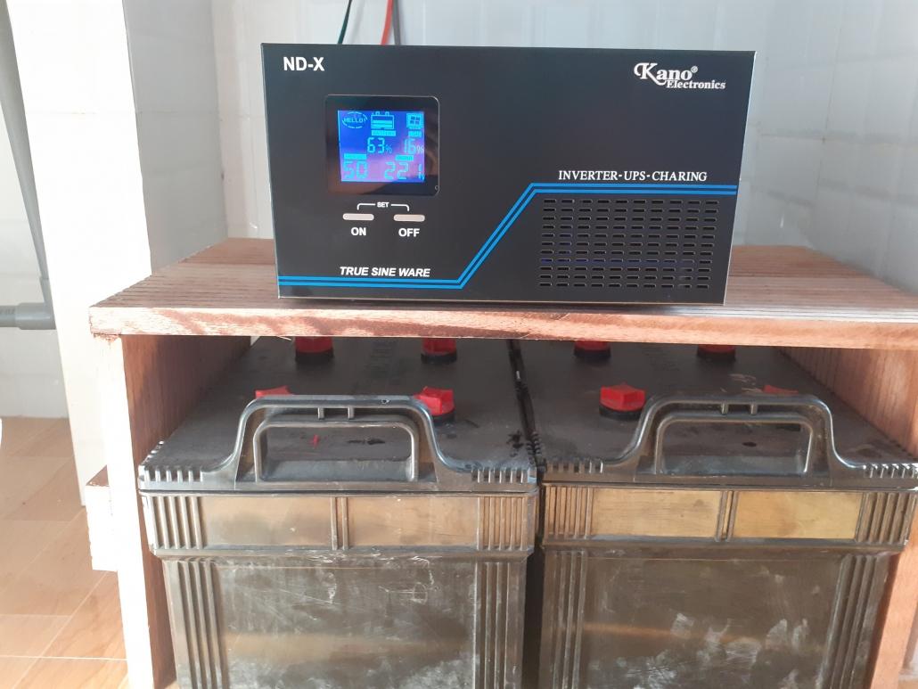 Bộ lưu điện Kano 2KVA cho nhà yến - Kết hợp 2 Acquy 12V 200Ah của GS