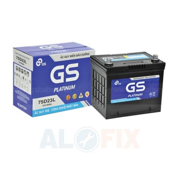 Mô tả Ắc quy GS khô 12V 65Ah 75D23L/R