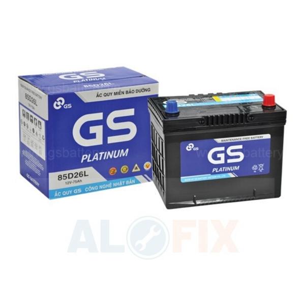 Thông tin về sản phẩm Ắc quy GS khô MF 85D26L/R 12V - 75Ah