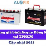 bảng giá bình acquy Đồng Nai tại TPHCM cập nhật 2021