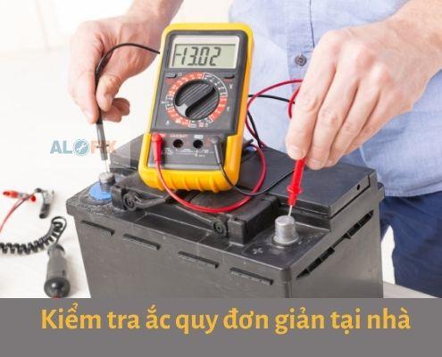 Kiểm tra ắc quy đơn giản tại nhà