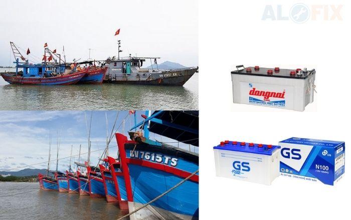 Ắc quy tàu thuyền đánh bắt hải sản