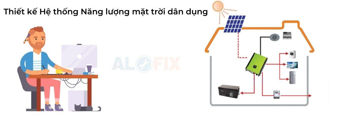 thiết kế Hệ thống Năng lượng mặt trời dân dụng