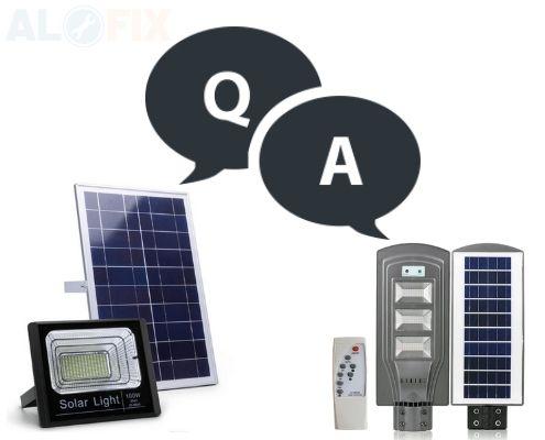 giái đáp những câu hỏi về đèn pha Led năng lượng mặt trời